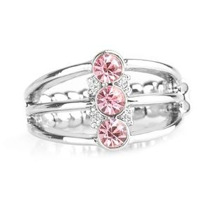 Triple Crown Winner - Pink Rhinestone Ring